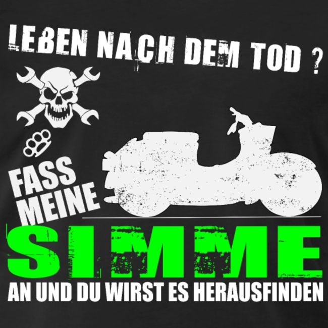 Simson Schwalbe KR51 T-Shirt Leben nach dem Tod ? #simson
