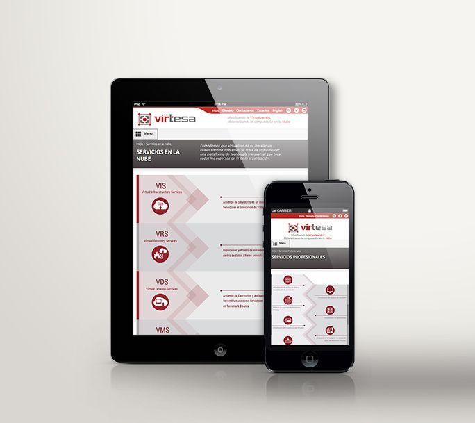 Diseño Responsive - Sitio Web Virtesa