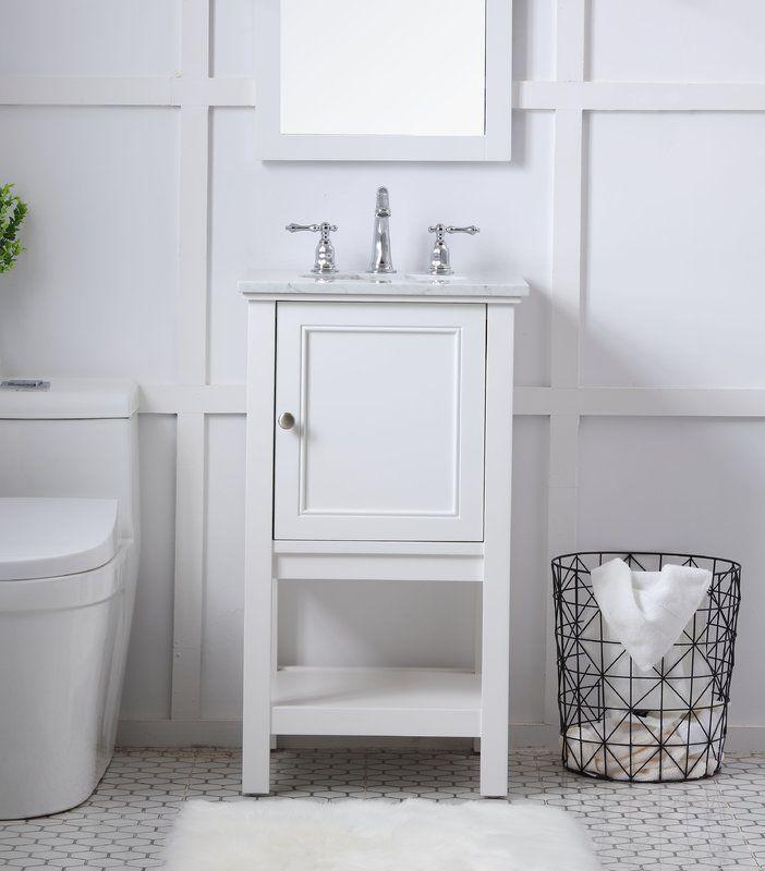Davina 19 Single Bathroom Vanity Set With Images Small