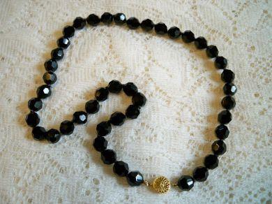 Vintage Black Necklace 121