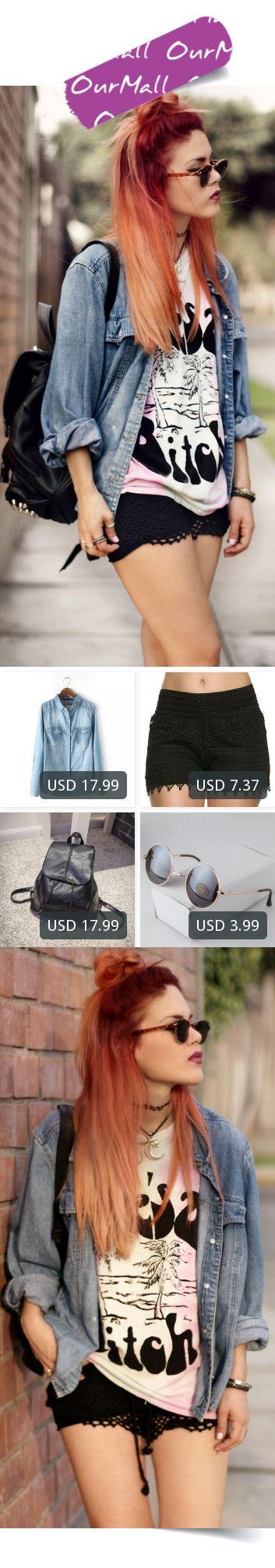 This is Lua P's buyer show in OurMall;  1.2016 Women's Jean Shirts European Style Denim Blouses Women Full Sleeve Turn-down Collar 2.Hot Fashion Solid Black White Summer Shorts Casual Lace Crochet Women Elastic Waist Hollow Shorts For Women 3.Brand Fashion Women PU Lea... please click the picture for detail. http://ourmall.com/?rU7rAn #coat #windbreaker #denimcoat #springcoat #girlscoat #coatforwomen #femalecoat #trenchcoat #capecoat #rackcoat #womencoat