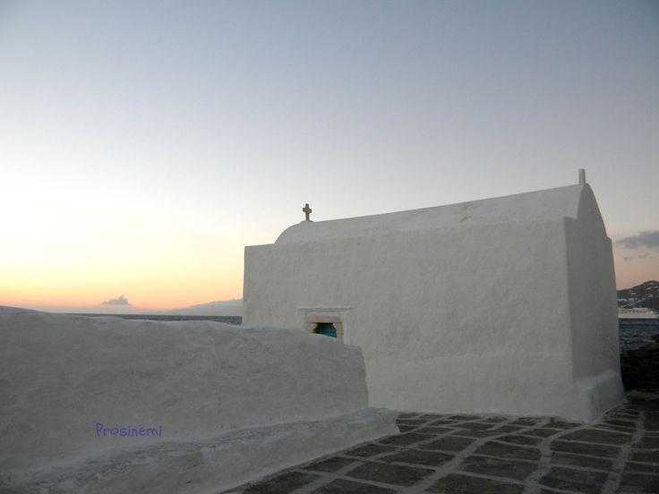 ON SALE photos 2016 Sunset photo print, blue summer Greece - Mykonos travel photo, summer photo print, summer home decor, wall decor, white - €10.40 EUR
