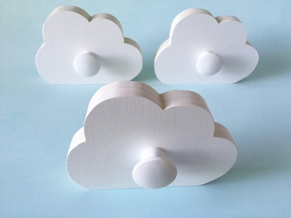 Cloud Wall Hook Room Decor White Cloud Kids Decor Cloud Hanger