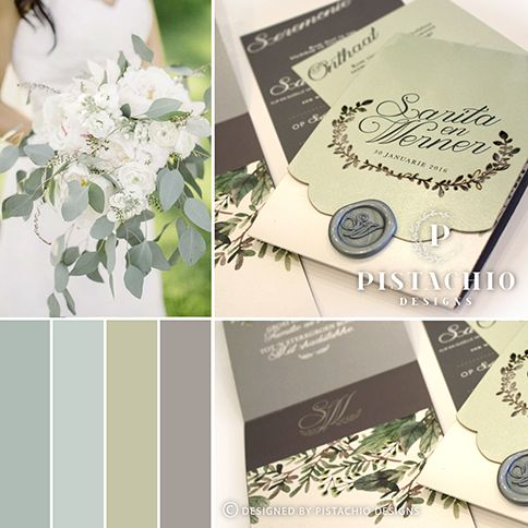 Olive green wedding invitation with a earthy leaf laser made by www.pistachiodesigns.co.za