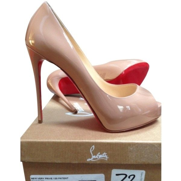 replica christian louboutin - Pre-owned Christian Louboutin New Very Prive 120 Patent Leather ...
