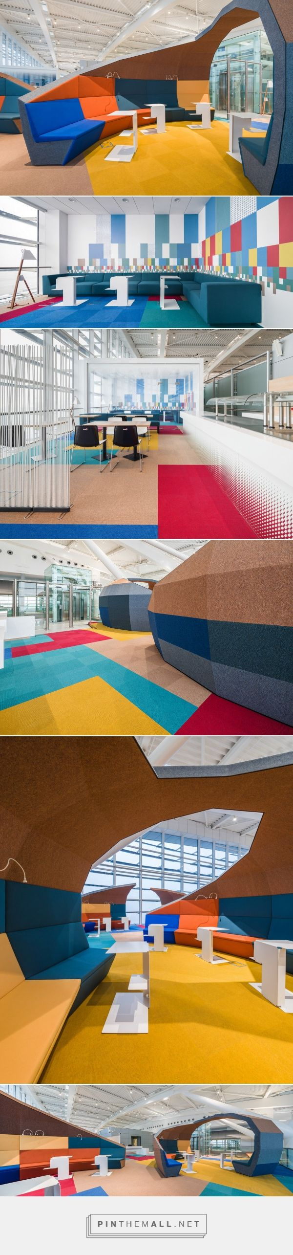 A Colorful Airport Lounge Designed to Excite