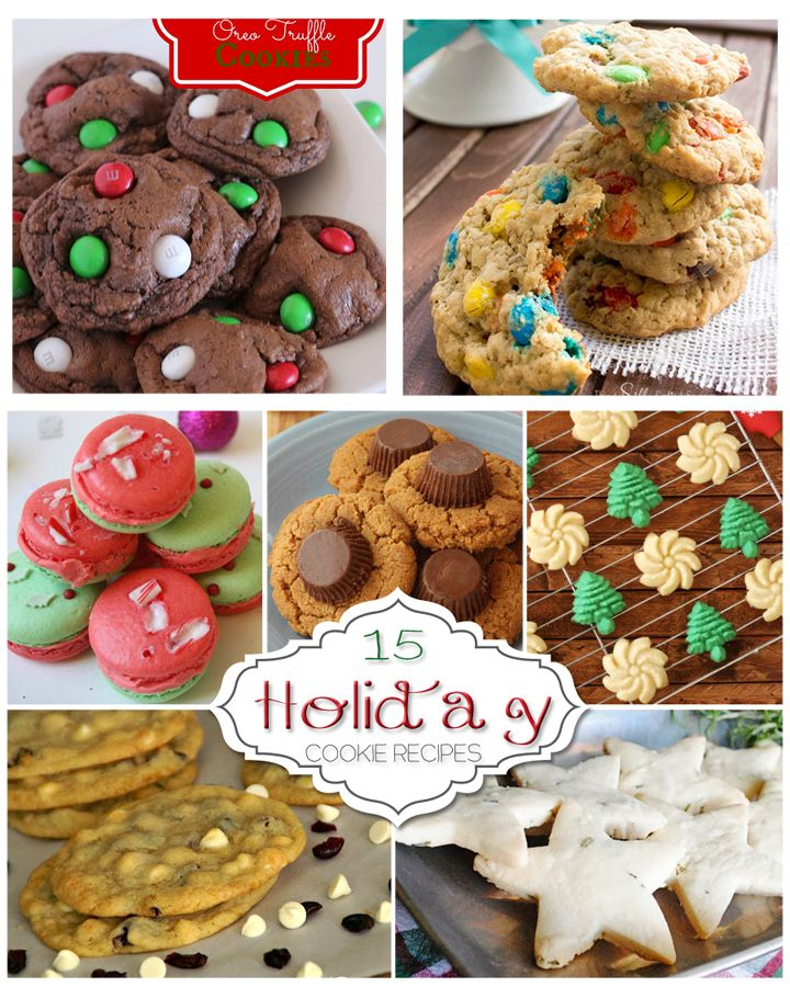 15 Holiday Cookie Recipes! #Christmas #cookies #yum