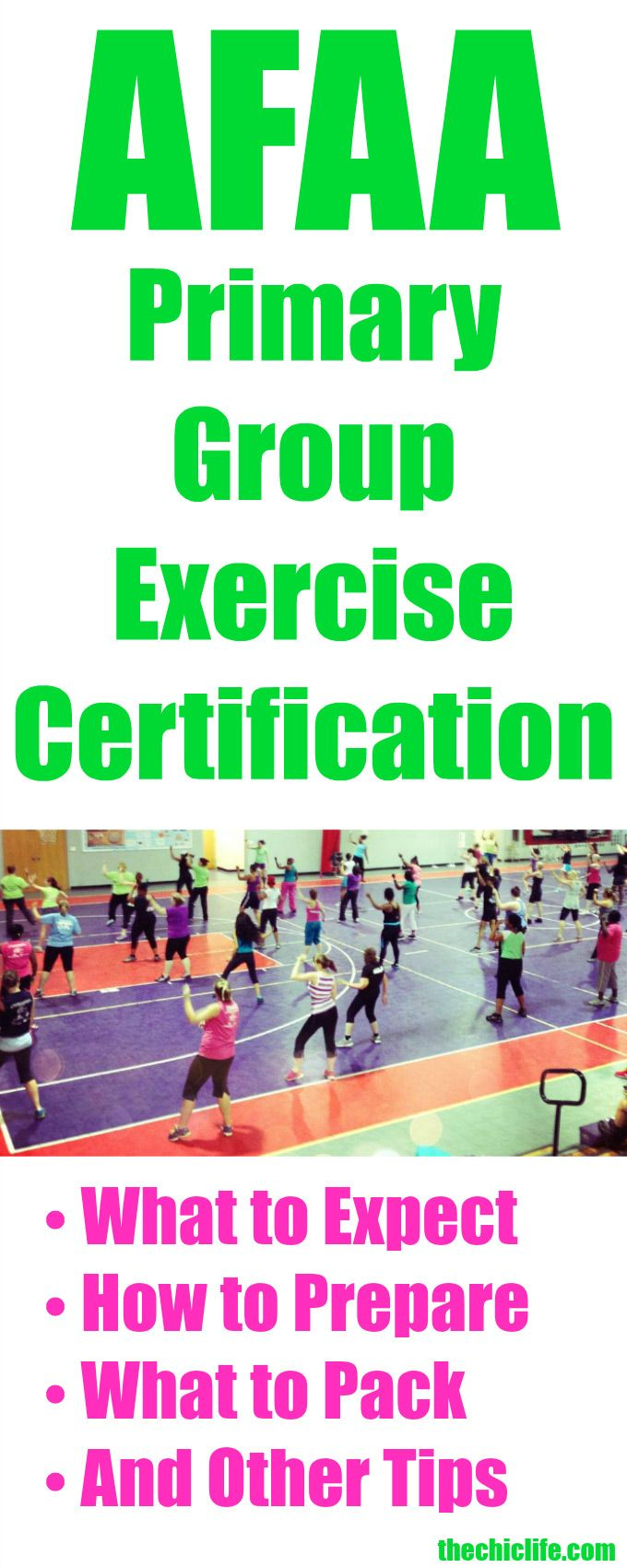 AFAA Primary Group Exercise Certification Tips