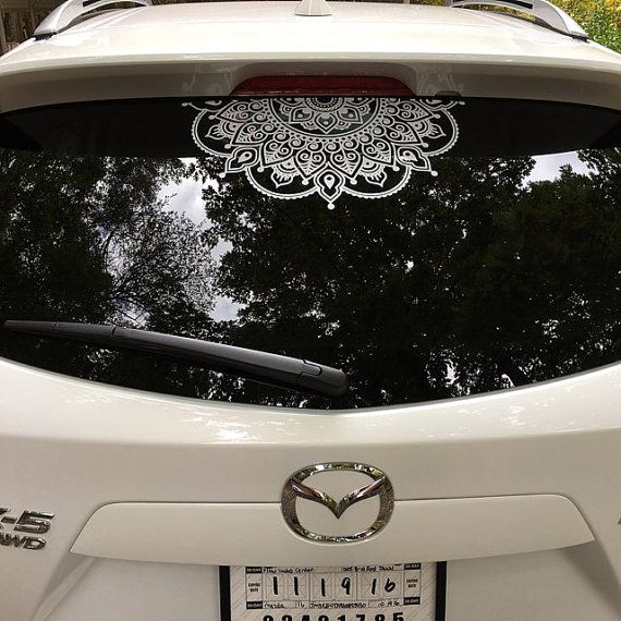 Mandala Decal Flower Decal Car Decal Lacey by NikkisMandalas