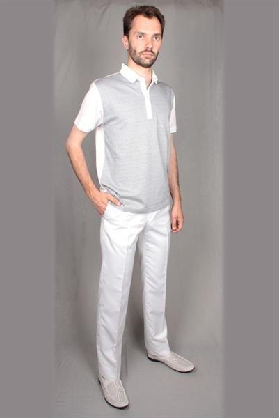 Белые мужские классические брюки