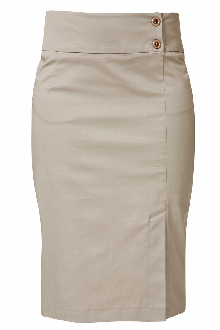 RAXEVSKY ELECTRA Beige Pencil Skirt - CLOTHING | SKIRTS | PRET-A-BEAUTE.COM