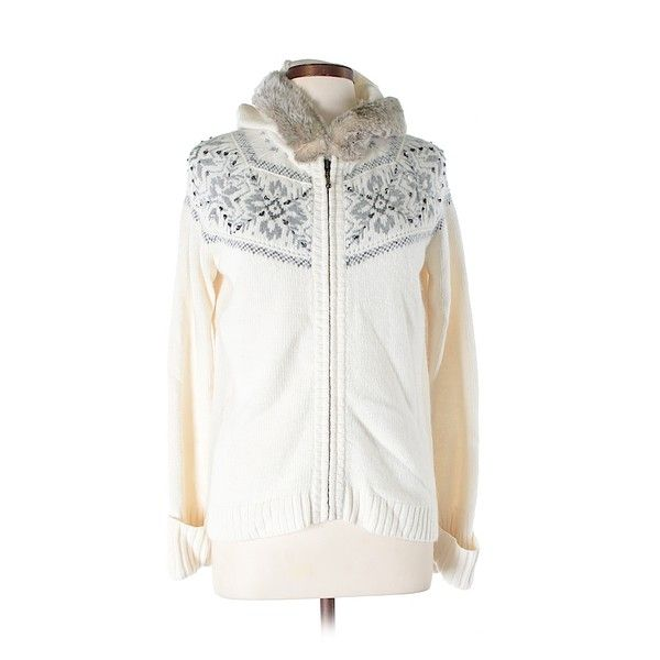 Pre-owned Ann Taylor LOFT Zip Up Hoodie Size 12: Ivory Women's Tops (21 NZD) ❤ liked on Polyvore featuring tops, hoodies, ivory, zip up hoodies, loft tops, zip up hoodie, white hooded sweatshirt and white zip up hoodie