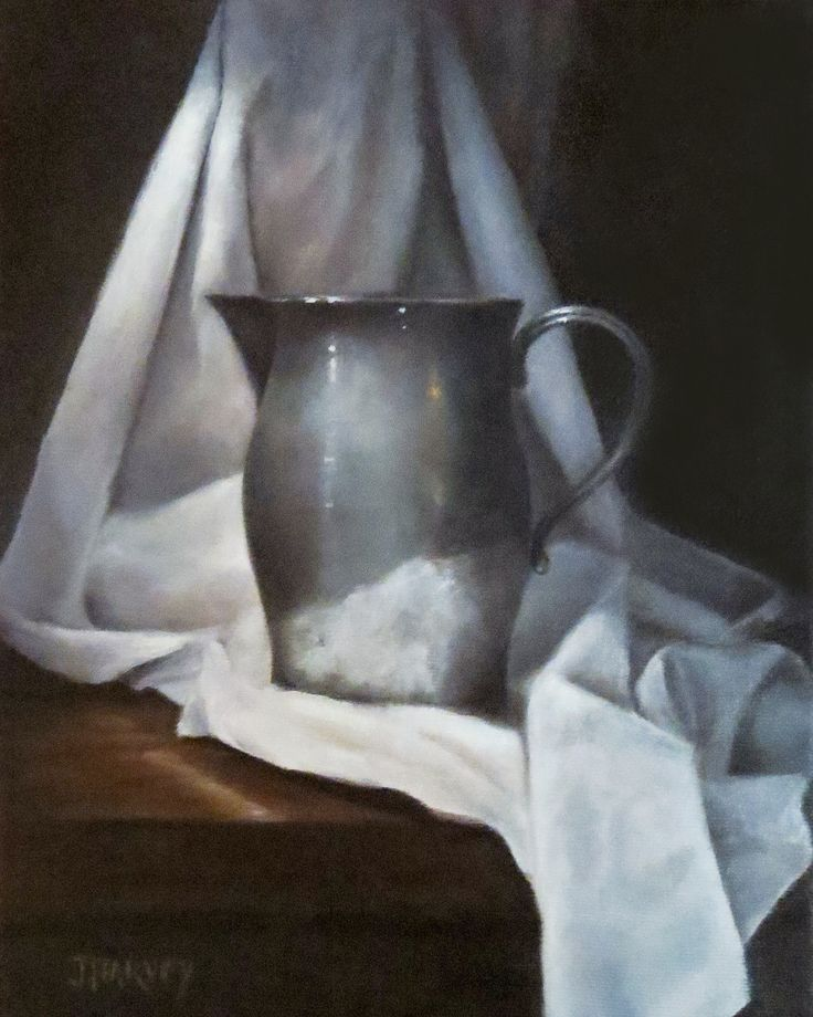 Pewter Jug with Drapery