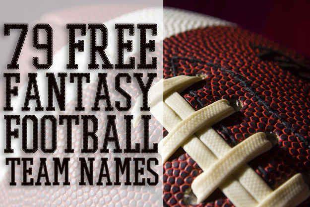 79 Free Fantasy Football Team Names