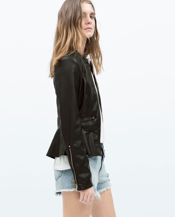 *Image 2 of PEPLUM BIKER JACKET  This is the first leather jacket that I actually like! So stylish!