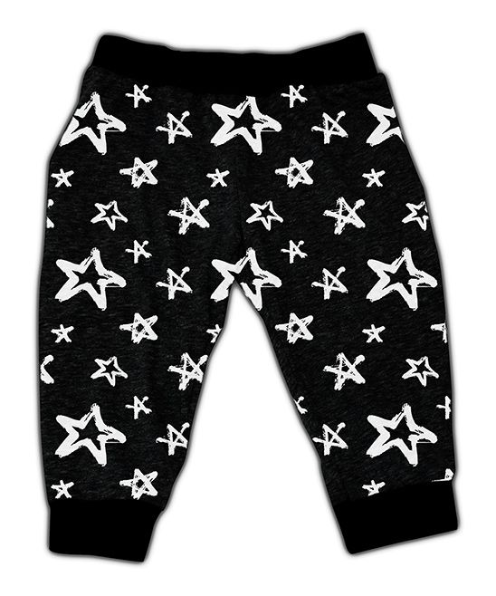 Charcoal Stars Harem Pants - Infant