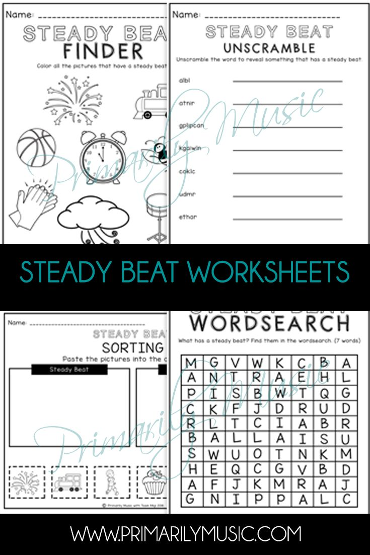 Best 25 kindergarten music ideas on pinterest kindergarten check out these worksheets that will help your scholars understand steady beat steady beat buycottarizona