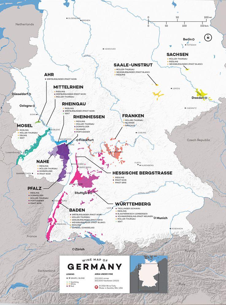 Best Les Vins Allemands German Wines Images On Pinterest - Germany map today