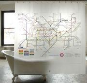 London Underground - Κουρτίνα Μπάνιου