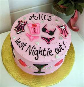 Bachelorette party cake - cute idea instead of the ''usual'' cakes!!