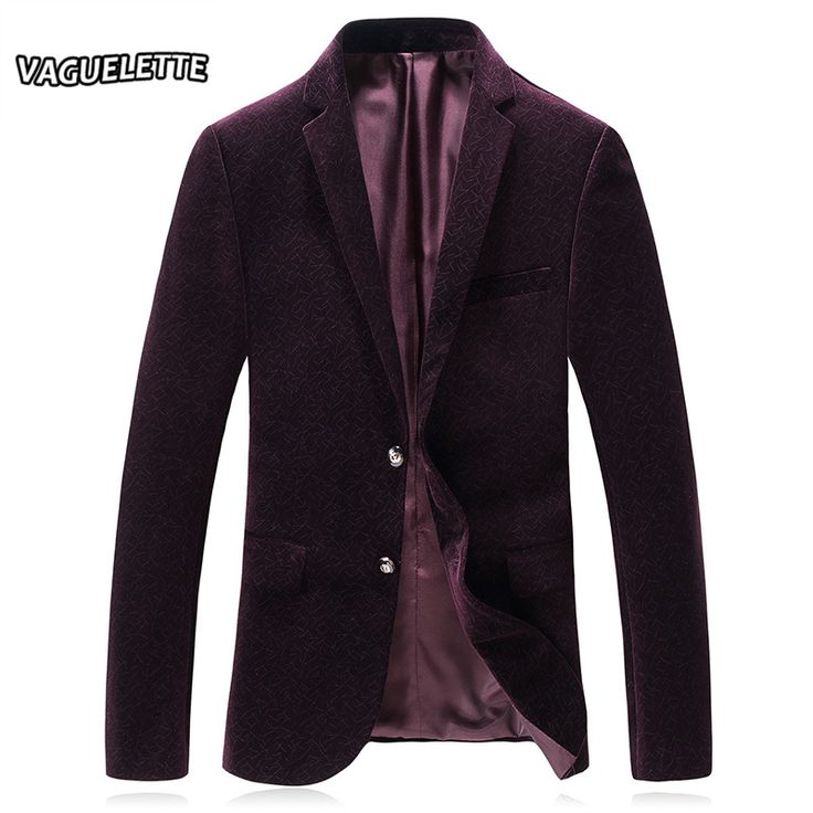 Cheap blazer masculino, Buy Quality velvet blazer directly from China business blazer Suppliers: Printed Velvet Blazer Masculino Red Wine Blue Jackets Men Casual Business Wedding Stage Wear For Singer New Arrivals 2018 M-3XL