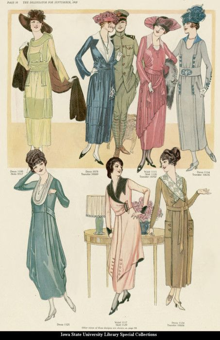 Day dresses, 1918, the Delineator
