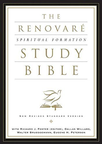 This study Bible is great for those interested in the spiritual disciplines.  Notes by Richard J Foster, author of The Celebration of Discipline. The NRSV Renovaré Spiritual Formation Bible #affiliate