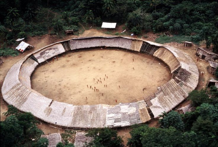 Shabono structures by the Yanomami From southern Venezuela and northern Brazil, the Yanomami built Shabonos as temporary dwellings for the whole community. Built using thatched palm leaves and wood...