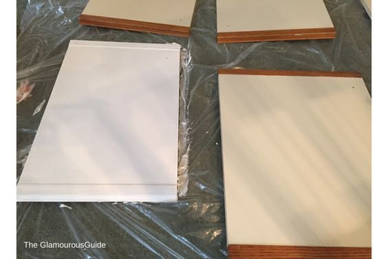 DIY Kitchen Cabinet Makeover | How to paint over your formica cabinets in less than 72 hours and not breaking the bank