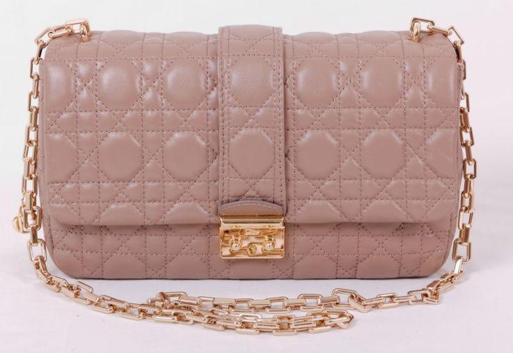 Сумка Miss Dior Promenade bag из натуральной кожи ягненка, тёмно-бежевого цвета. Размер 30x18x10cm #20021
