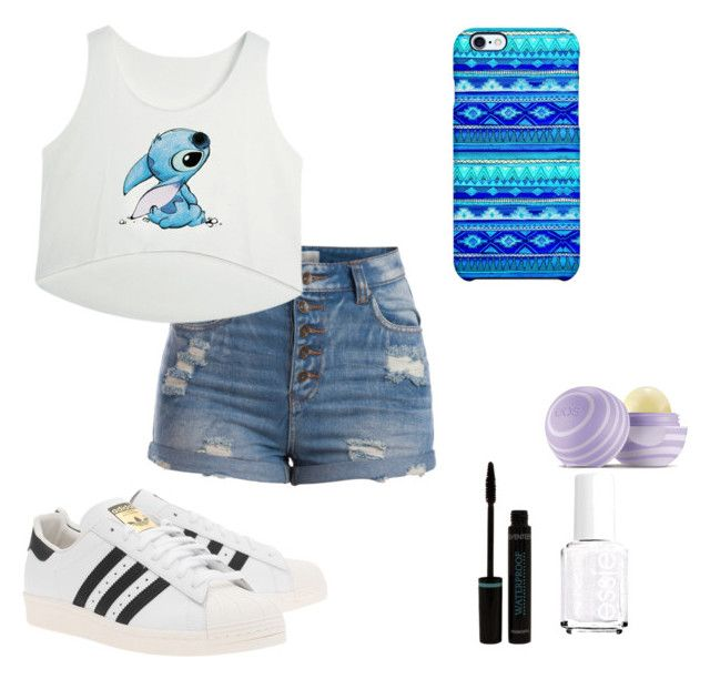 #4 by sarah-e11 on Polyvore featuring polyvore, fashion, style, Pieces, adidas Originals, Uncommon, Eos and Essie