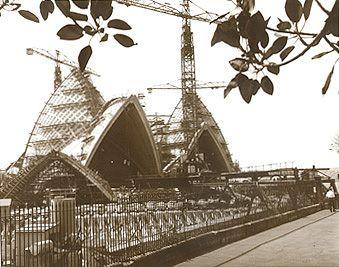 Yesterday's Images Historic photographs Australia Sydney Opera House Construction 1960's