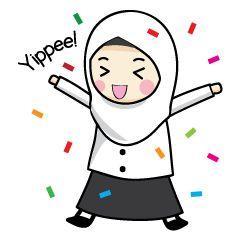 check out the Jasmin Muslimah Student sticker by Alwaris Darakai on chatsticker.com