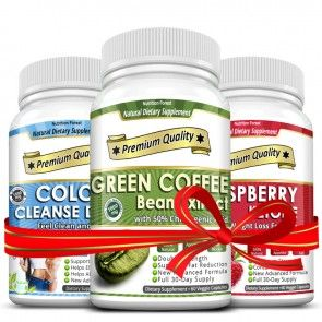Green Coffee Bean, Colon Cleanse Detox and Raspberry Ketones Combo Deal