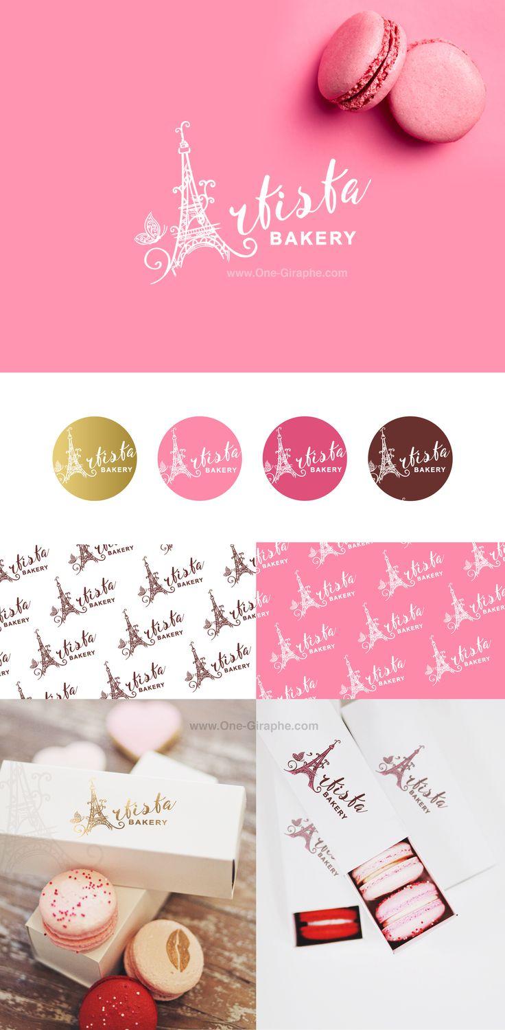 Artista Bakery - Brand Identity for sale! http://one-giraphe.com/prev.php?c=206 #logo #logos #bakery #brandidentity #macaron #macarons #paris #french #parislovers #frenchstyle #logodesign #designer #etsy #behance #designers #pink #logo #needlogo