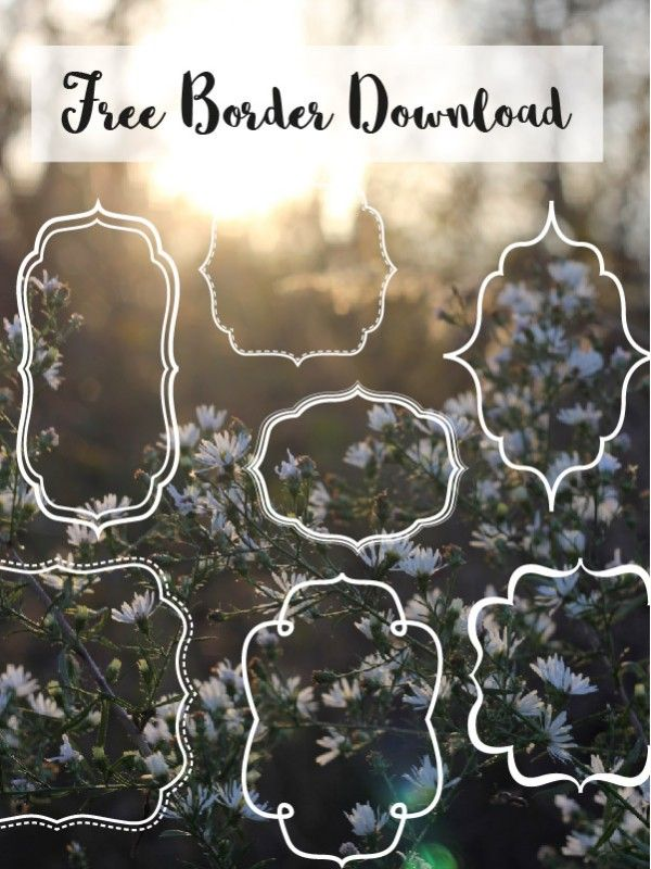 Free borders and bracket frames // Download - Pure Sweet Joy