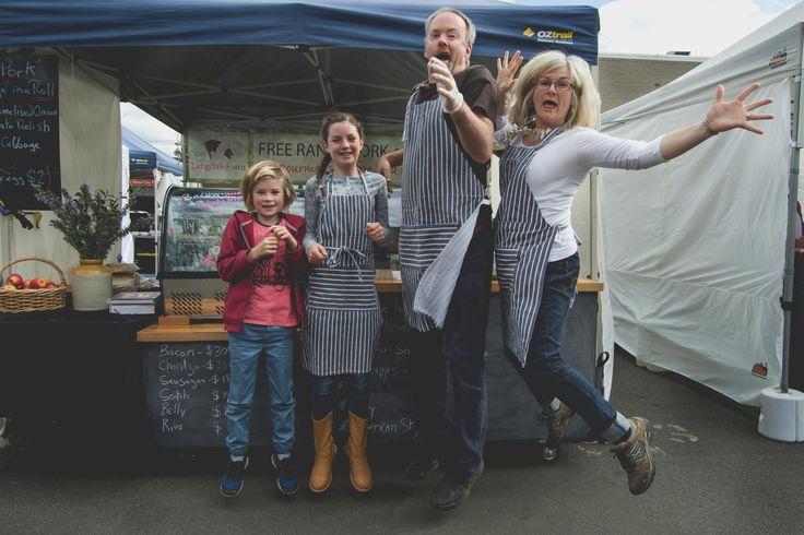 The Stocker family at Harvest Market Launceston. #HarvestLaunceston #bootsforchange #Tasmania #farmersmarkets Photo by Dermot McElduff.