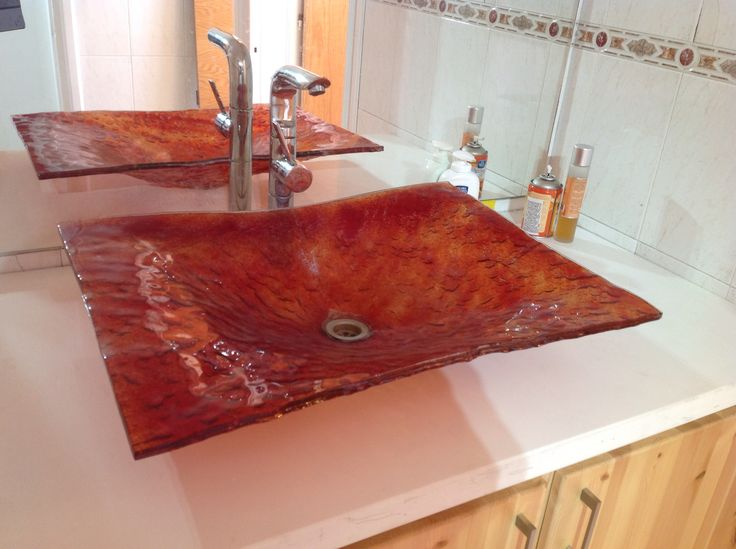 Fusing glass sink..