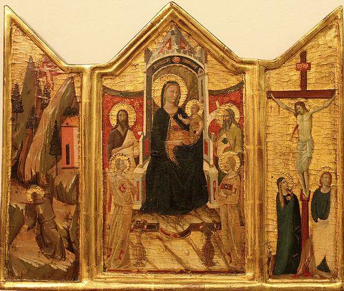 Jacopo del Casentino - Trittico della Vergine col Bambino in trono