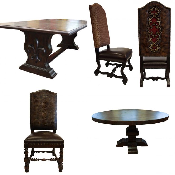 25 Best Old World Tuscan Style Dining Chairs Images On