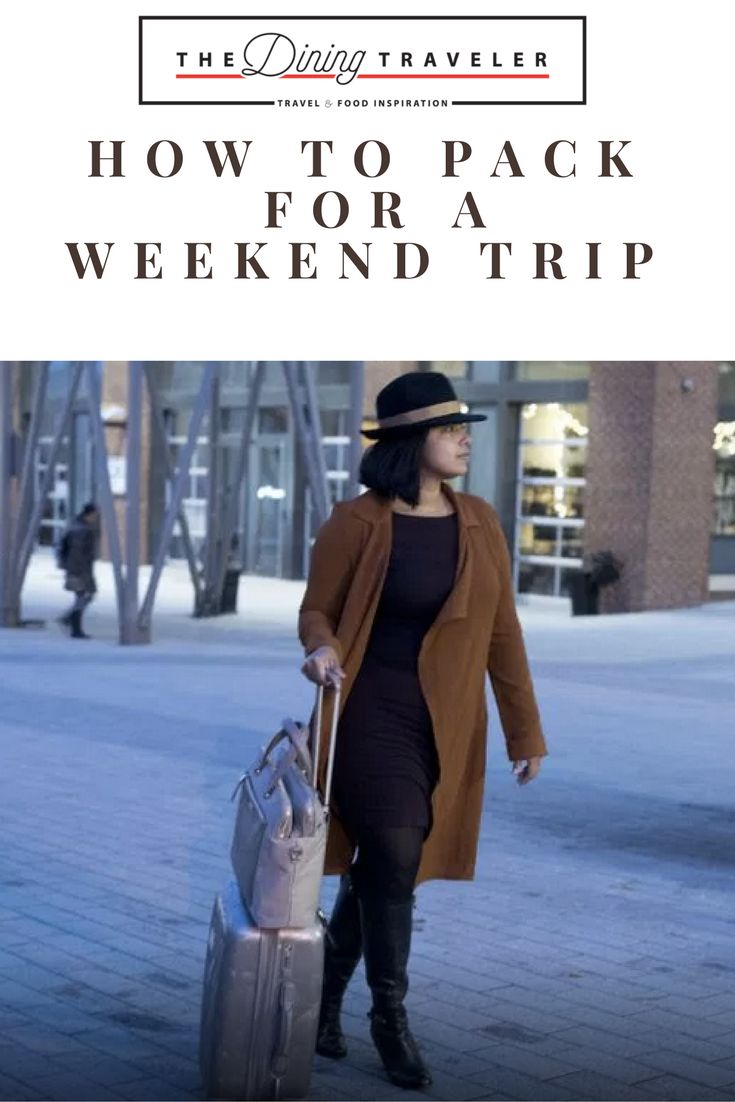 Packing tips on how to organize your suitcase for a weekend trip with how-to video.