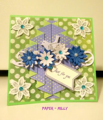 Le Tre Pazze PAPERine-Pleated fold card