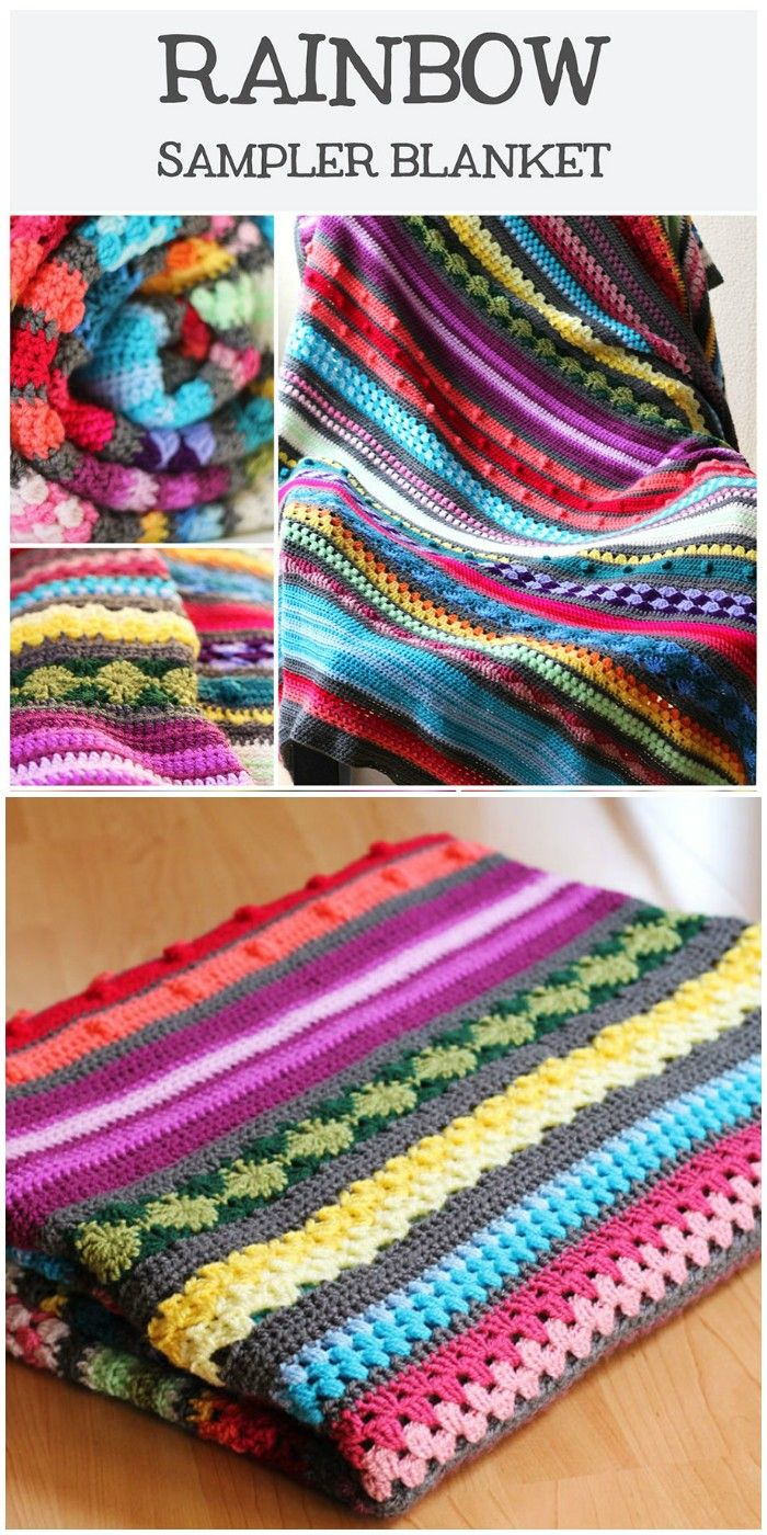 I show you some of the best free crochet Blankets patterns that will really inspire you to try them out with your own hands!Colourful Rainbow Sampler Blanket