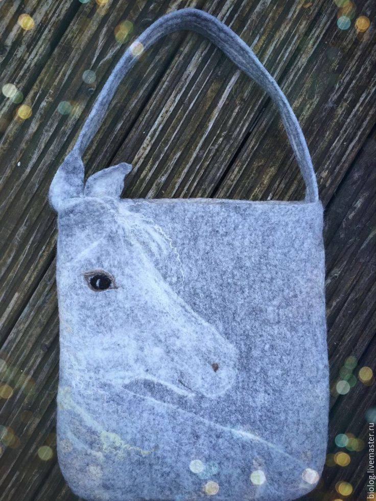 """Купить Сумка с лошадью """" Жемчуженка"""" валяная сумка ручной работы, удобная - рисунок"""