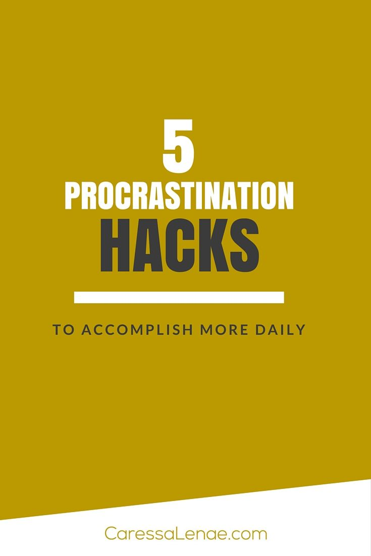 Do you suffer from procrastination? What about the perftionist syndrome? Try these 5 Procrastination Hacks To Accomplish More Daily via @CaressaLenae