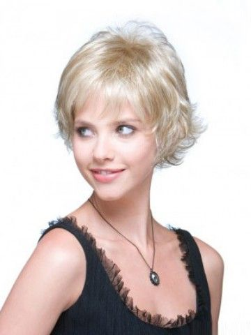 Chipped Layer Wavy Short Capless Grey Wig