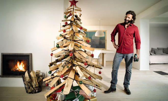 Tannenbaum aus Holz bauen