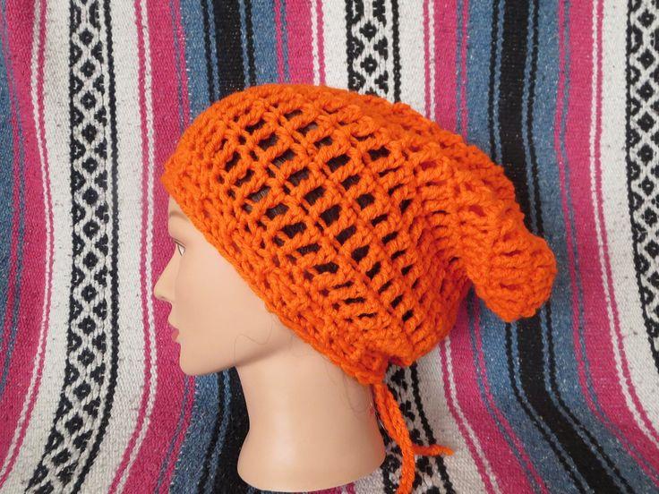 Orange Mesh Rasta Tam, Mesh Dread hats, Mesh Mega Slouchy Hats, Rasta Dread Nets, Adjustable Mesh Tams, Unique Gifts, Ti Stephani 2017 by TiStephani on Etsy