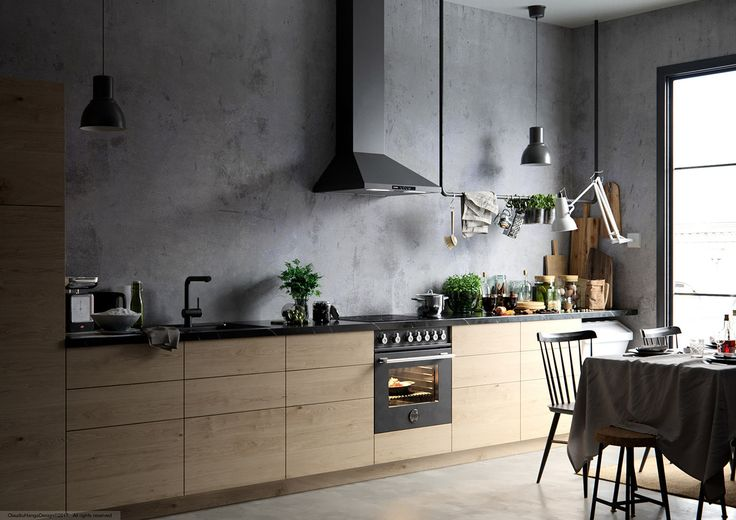 Rustic interior renderings in Hans's Dream Kitchen by @Claudiu Hanga Designer  See more: http://mindsparklemag.com/design/hanss-dream-kitchen/  More news: Like @Mindsparkle Mag on Facebook