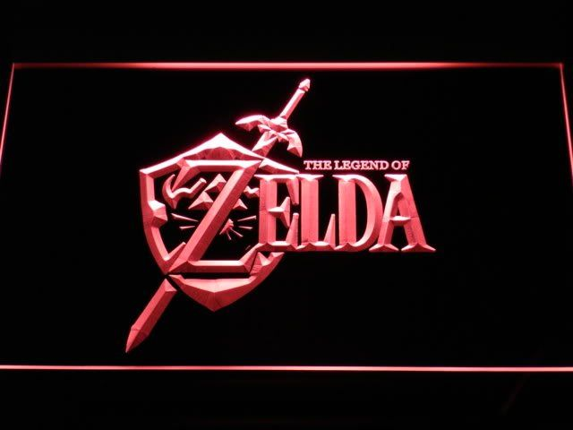 Inspirational e Legend of Zelda Video Game LED Neon Light SignWholesale Dropshipping On Off Switch